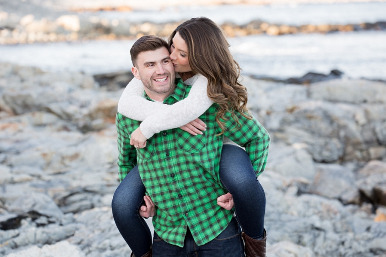 Cassie and Josh&#8217;s Engagement Session</br>at Bass Habor Head Lighthouse and Seawall