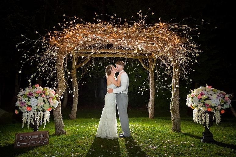 Central Maine Wedding Photographer Bangor Maine Rustic Backyard Wedding Tented Reception
