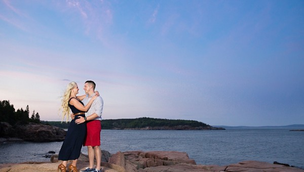 Maine Wedding Photographer, Coastal Engagement Session, Bar Harbor Engagement, Acadia National Park, Bar Harbor Inn Maine Wedding