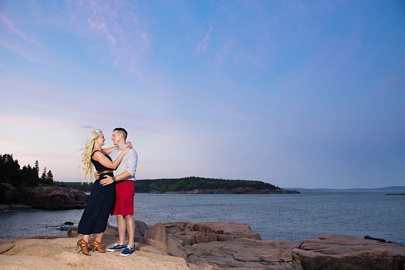 Bar Harbor Maine Engagement Photographer:</br>Genevieve and Adam