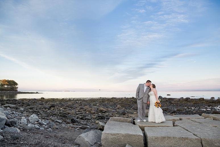 Coastal Maine Wedding Photographer Nautical Samoset Resort Breakwater Rockland First Look Wedding