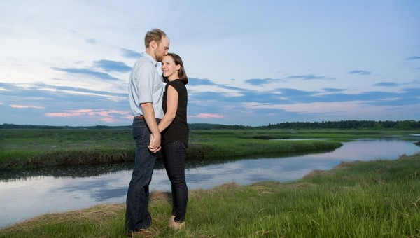 Portland Maine Engagement Session Scarborough Marsh Maine Wedding Photographer Mountain House on Sunday River
