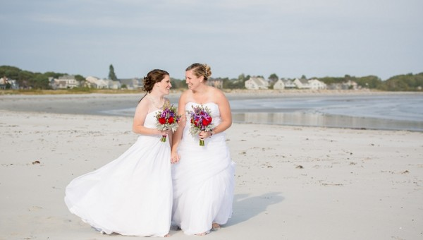 Kennebunkport Maine Wedding Photographer Goose Rocks Beach Ocean Woods Resort Coastal Same Sex Wedding