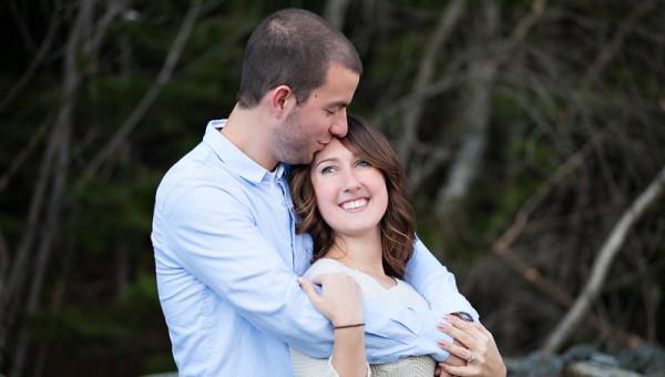 Maine Wedding Engagement Photographer Bangor City Forest
