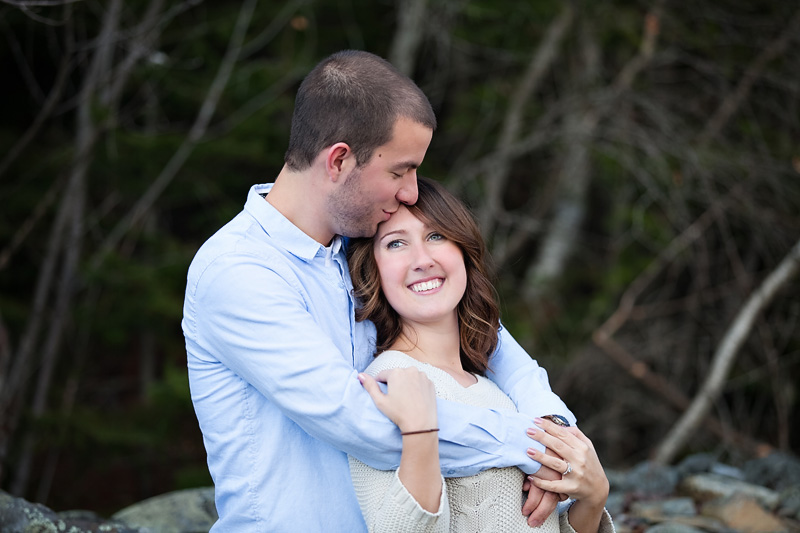 Maine Engagement Photographer:</br>Kayla and Nate at Bangor City Forest