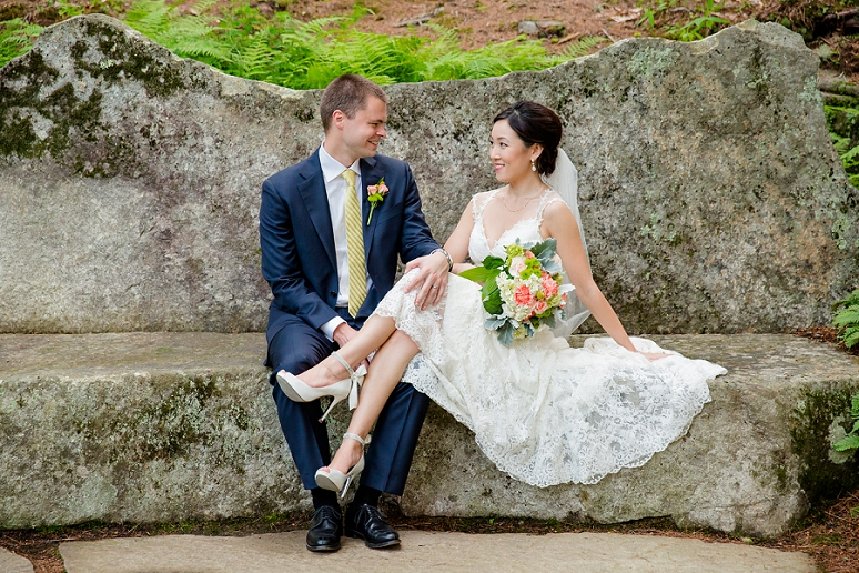 L and J&#8217;s Wedding Pictures at the Coastal Maine</br>Botanical Gardens in Boothbay Harbor