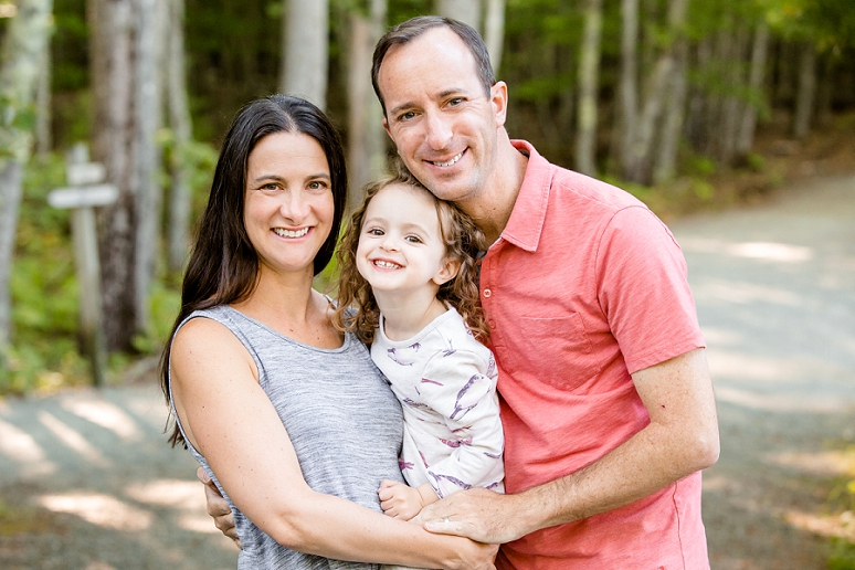The L. Family&#8217;s Portrait Session at the</br> Jesup Trail in Acadia National Park