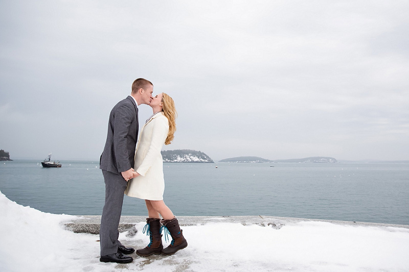 Bar Harbor Maine Wedding Engagement Photographer Winter