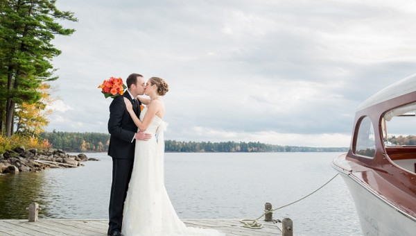 Portland Maine Wedding Photographer Migis Lodge Coastal Fall Rustic Wedding Sebago Lake