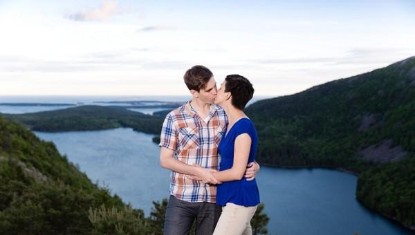 Maine Wedding Photographer, Bar Harbor Maine, Acadia National Park, Summer Engagement Session, Central Maine Engagement Photography, Bubble Rock Engagement
